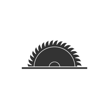 Circular saw blade icon isolated. Saw wheel. Flat design. Vector Illustration Иллюстрация
