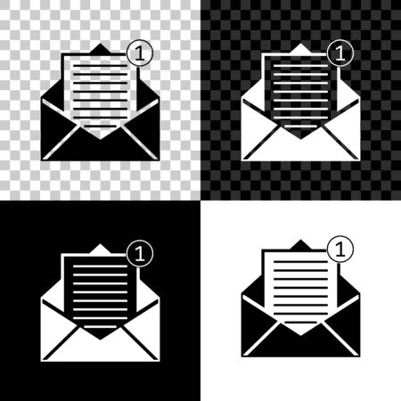 Received message concept. Envelope icon isolated on black, white and transparent background. New, email incoming message, sms. Mail delivery service. Vector Illustration