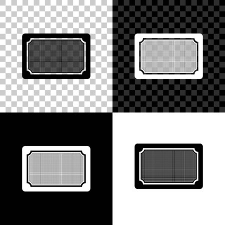 Doormat icon isolated on black, white and transparent background. Welcome mat sign. Vector Illustration