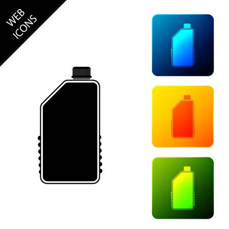 Household chemicals blank plastic bottle icon isolated  Liquid