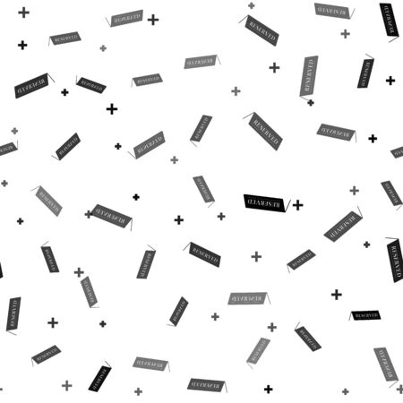 Black Reserved icon isolated seamless pattern on white background. Vector Illustration