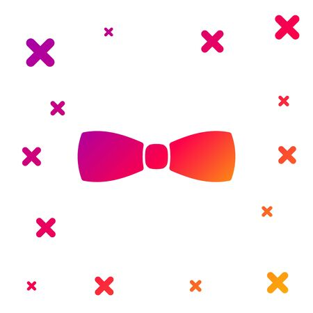 Color Bow tie icon isolated on white background. Gradient random dynamic shapes. Vector Illustration