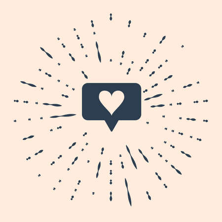 Black Like and heart icon isolated on beige background. Counter Notification Icon. Follower Insta. Abstract circle random dots Illustration