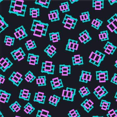 Line Barrel oil icon isolated seamless pattern on black background. Vector Illustration Stock Illustratie