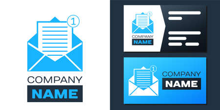 Logotype Received message concept. Envelope icon isolated on white background. New, email incoming message, sms. Mail delivery service. Logo design template element. Vector