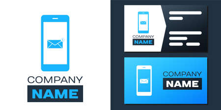 Logotype Received message concept. New email notification on the smartphone screen icon isolated on white background.
