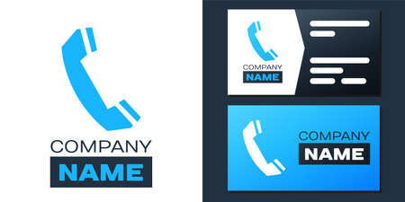 Telephone handset icon isolated on white background. Phone sign. Call support center symbol. Communication technology.   design template element. Vector