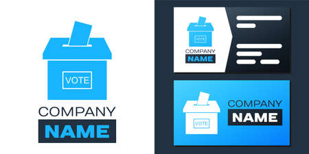 Vote box or ballot box with envelope icon isolated on white background.   design template element. Vector
