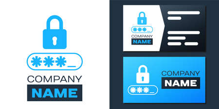 Password protection and safety access icon isolated on white background. Lock icon. Security, safety, protection, privacy concept.   design template element. Vector 向量圖像