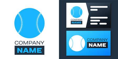 Logotype Baseball ball icon isolated on white background. Logo design template element. Vector