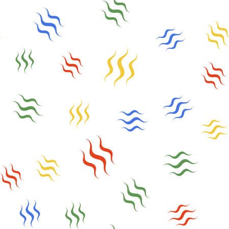Color Steam icon isolated seamless pattern on white background. Vector Illustration