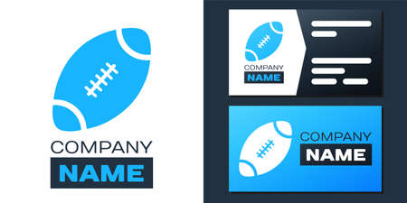 Logotype American Football ball icon isolated on white background. Logo design template element. Vector