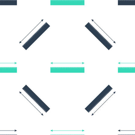 Green The measuring height and length icon isolated seamless pattern on white background. Ruler, straightedge, scale symbol. Vector