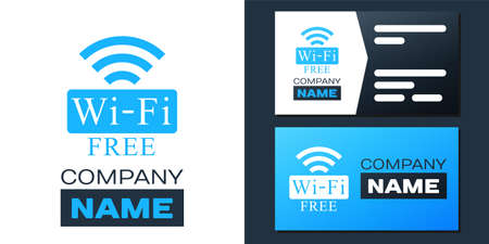 Logotype Free Wifi icon isolated on white background. Wifi symbol. Wireless Network icon. Wifi zone. Logo design template element. Vector