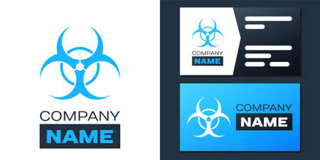 Logotype Biohazard symbol icon isolated on white background. Logo design template element. Vector 向量圖像