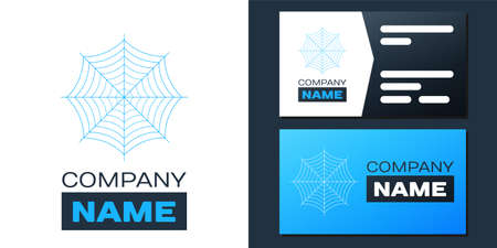 Logotype Spider web icon isolated on white background. Cobweb sign. Logo design template element. Vector