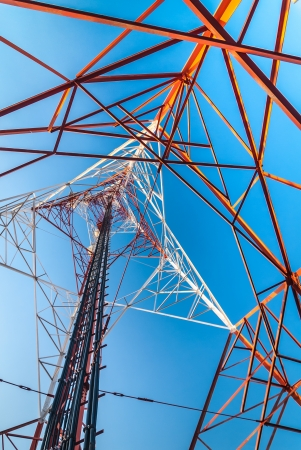Mobile tower situated in the countryside, making communication much easier today. photo