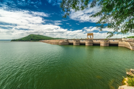 Environment of the dam. A tourist attraction. And a source of livelihood of people in the area.