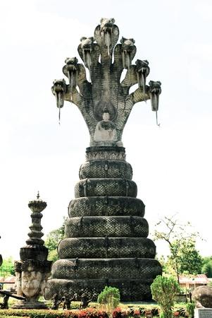 Idol statue at Nong Kha,i Thailand,About Laos art Stock Photo - 14408785