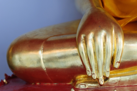 Thailand, Bangkok  Histirical and culture legacy, Tample of Dawn, Gold Buddhas photo