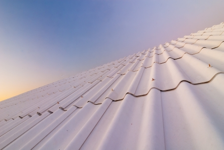 The roof-tile take on the building Stock Photo - 17307186