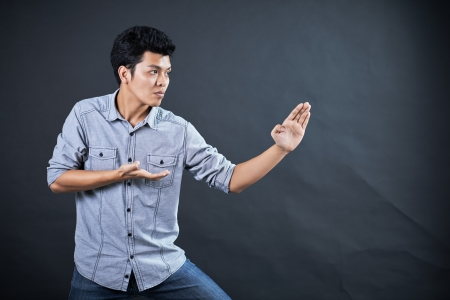 Style of fighting in the studio Stock Photo - 17958646