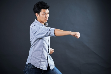 Style of fighting in the studio Stock Photo - 17958615