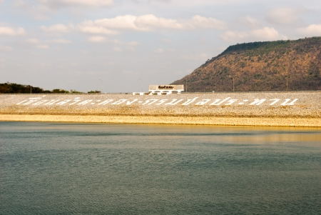 The Lam Takhong Dam is an embankment dam on the Lam Takhong River in between Pak Chona and Si Khiu districts in Nakhon Ratchasima province, Thailand. photo
