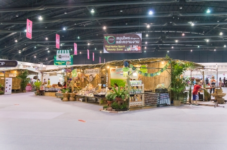 Bangkok, Thailand - October 23, 2013  The exhibition feature OTOP products from all over the country , you can buy each regional products in special price such as rice and grains, organic products, organic herbal, tea, juice, healthy product