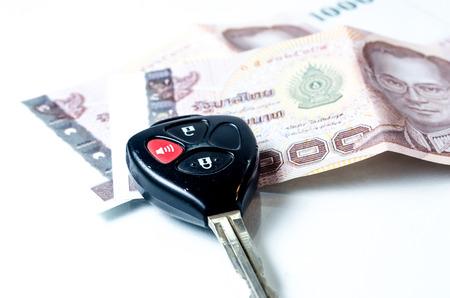 money and car keys