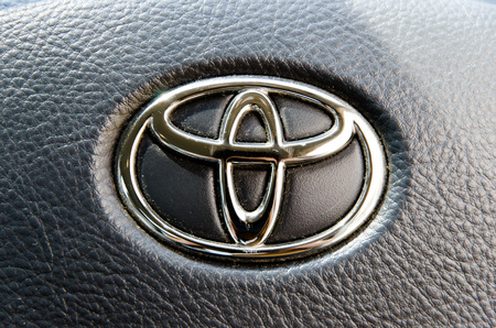 Logo of Toyota Camry car on display.Toyota Group is best known today for its cars, it is still in the textile business and still makes automatic looms, which are now computerized, and electric sewing machines which are available worldwide