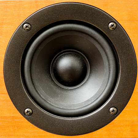 Closeup of loudspeaker  photo