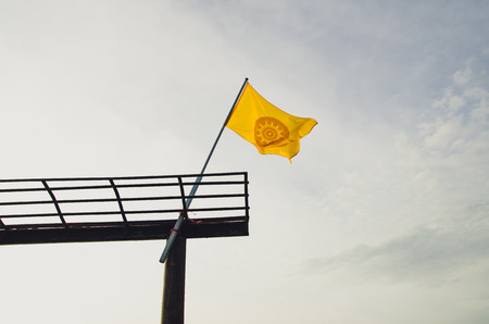dhamma: Wheel of Dhamma flags, Dhamma is the teaching of thd Lord Buddha