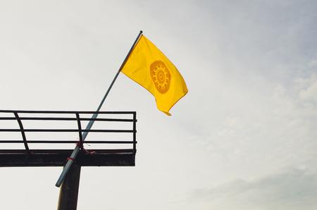 dhamma: Ruota di bandiere Dhamma, il Dhamma � l'insegnamento del Buddha thd