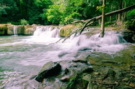 Waterfalll at Num Tok Chet Sao Noi National Park, Thailand  Stock Photo