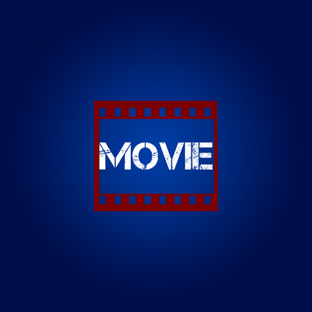 blue star: movie rated and scoring film critics Stock Photo