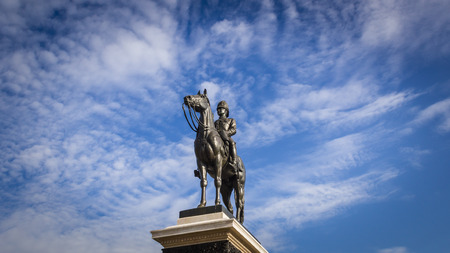 rama: King Rama V Equestrian Monument Stock Photo