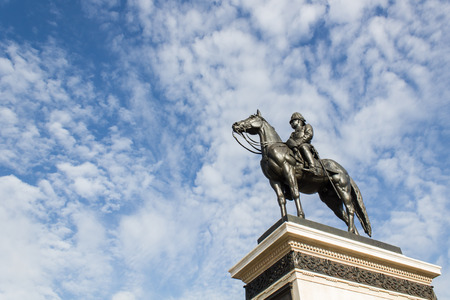 repeal: King Rama V Equestrian Monument Stock Photo