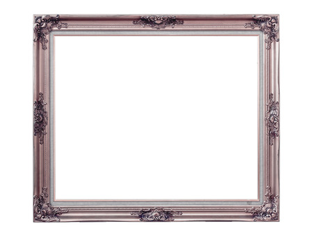 louise: Gold louise photo frame over white background,isolated object