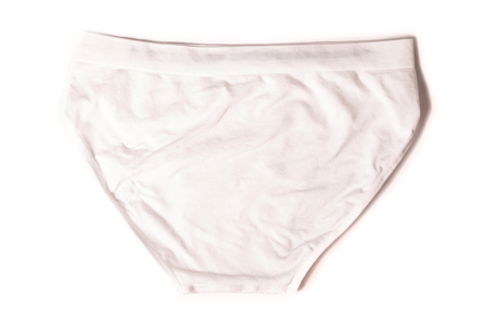 underpants: Male new underpants or underware white color isolated on white background Stock Photo