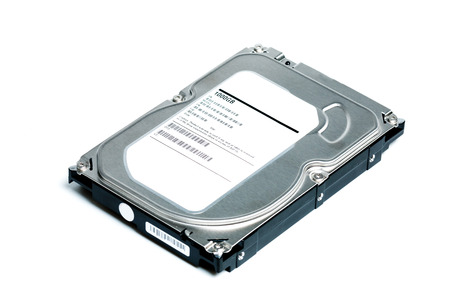 gigabyte: HDD or Hard disk drive for storage data isolated on white background Stock Photo
