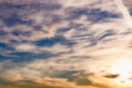 blur effect: Blur effect of sky and cloud background with colorful at sunrise nature