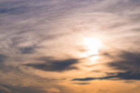 Blur effect of sky and cloud background with colorful at sunrise nature