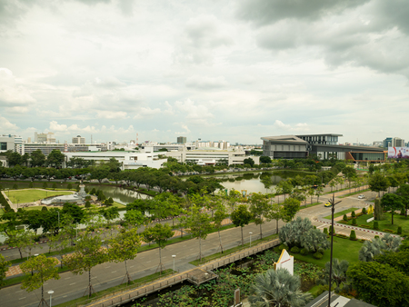 Bangkok, Thailand - May 2, 2018:The new headquarters of CAT telecom public company limited in Thailand CAT telecom is a large internet network service provider in Thailand. Editorial