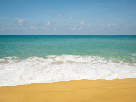 Tropical beach and empty sea background with copy space