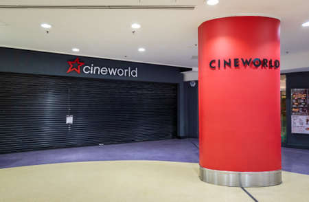 London.UK. 12.29.2020. A branch of the British Cinema chain Cineworld which has remained closed throughout Covid-19 pandemic.