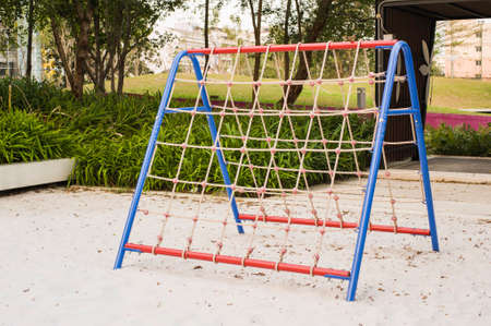 rope ladder: Rope Ladder for Children in a Playgound