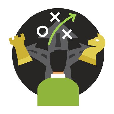 Decision Making Icon Ilustrace