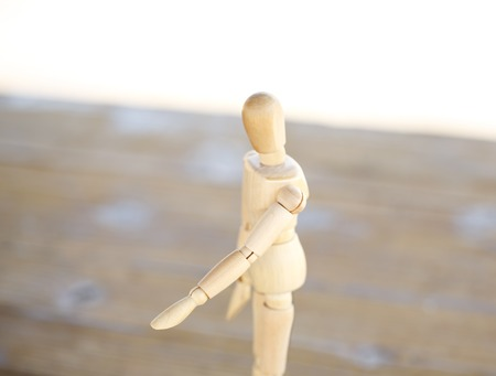 Wooden artist mannequin isolated