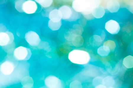 Sparkle light bokeh. Sparkle silver and blue and green bokeh of light with black background. 写真素材